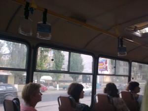 Реклама на поручнях в автобусах Воронеж